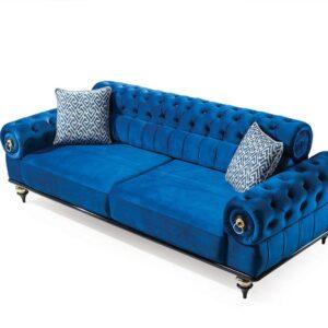 Canapea Extensibila Eleganta Albastru