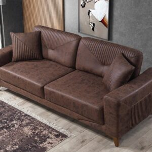 Canapea simpla eleganta maro